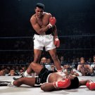 MUHAMMAD ALI STANDS OVER SONNY LISTON IN LEWISTON MAINE 1965 8X10 PHOTO (ZY-551)