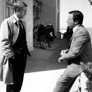 """STEVE McQUEEN AND ROBERT VAUGHN IN """"BULLITT"""" - 8X10 PUBLICITY PHOTO (ZY-610)"""