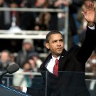 BARACK OBAMA WAVES TO CROWD AFTER 2009 INAUGURAL ADDRESS - 8X10 PHOTO (ZY-622)