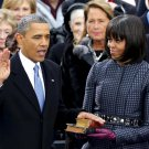 BARACK OBAMA IS SWORN IN FOR SECOND TERM JANUARY 21, 2013 - 8X10 PHOTO (ZY-628)