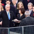 MIKE PENCE IS SWORN IN AS 48TH VICE PRESIDENT OF THE U.S. - 8X10 PHOTO (ZY-723)