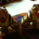Hand Crafted Asian Wood  Tigers