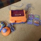 VTECH VSMILE TV LEARNING SYSTEM w/ microphone, CONTROLLER + 5 Games Bundle LOT