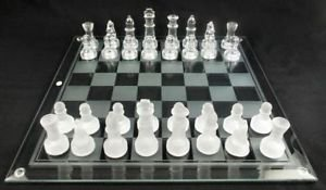Crystal chear chess set 2 in one game pack