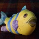 "Ceramic Brightly Colored Fish 4 1/2"" Height"