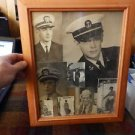 George Nader U.S Navy photos collection framed
