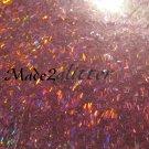 Holographic Fucshia Micro Tinsel Strps