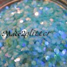 Iridescent Blue hexagon glitter