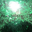 Forest green glitter hexagon