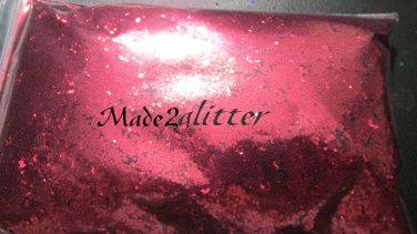 Cherry Red Hexagon glitters
