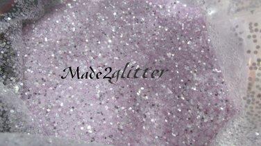 Pastel Purple silver shining hexagon glitter
