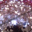 Metallic pnk Hexagon glitter
