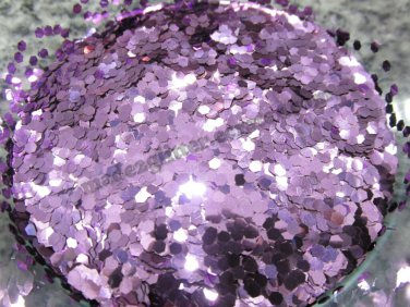Lilac hexagon glitter
