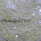 White violet tones hexagon glitter