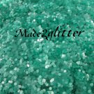 Mint green hexagon glitter