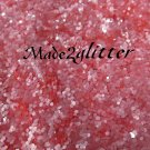 Coral Pink hexagon glitter