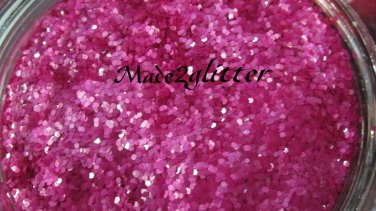 Magenta Hexagon glitter