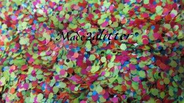 Neon Matte hexagon glitter
