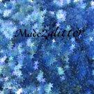 Micro blue stars glitter