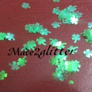 Shamrocks glitter shapes