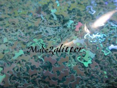 Blue scottish terrier glitter shapes