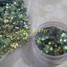 Green Forest Plum fish scales glitter