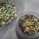 Golden Green Plum Fish scales glitter