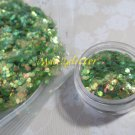 Green fish scales glitter