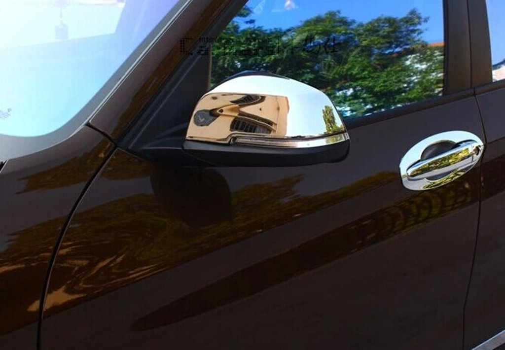 Chrome ABS Mirror Covers for BMW 5 Series F10 F11 2009-2013 520i 523i 528i 530i 535i 550i