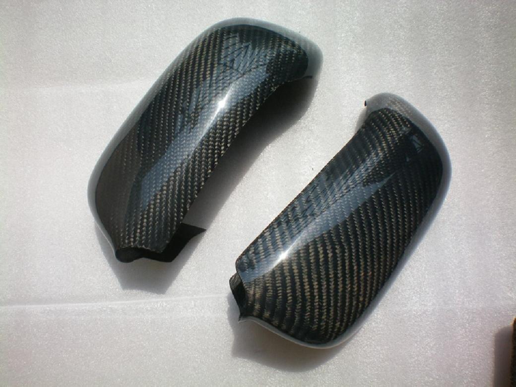 Carbon Fiber Mirror Covers For Audi RS6 Avant 2002-2004