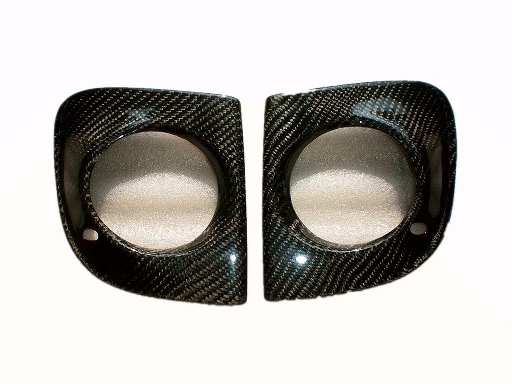 Carbon Fiber Front Fog Light Covers For Mitsubishi Lancer EVO X EVO10 2008-2014