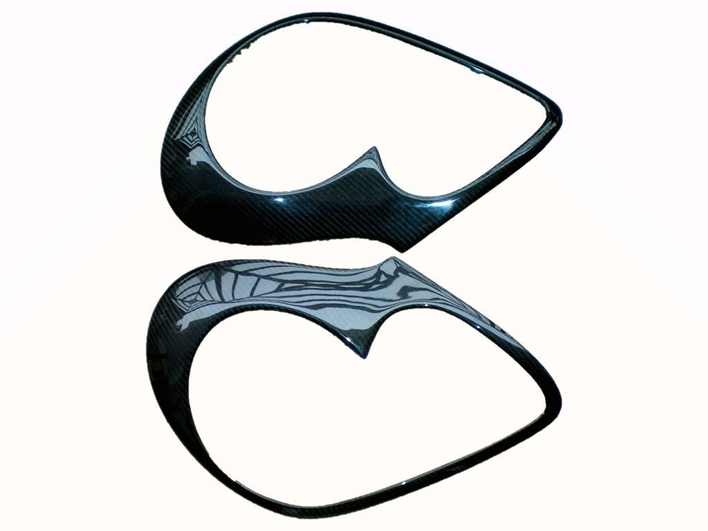 Carbon Fiber Headlight Lamp Covers For Porsche Cayenne 955 2004-2006