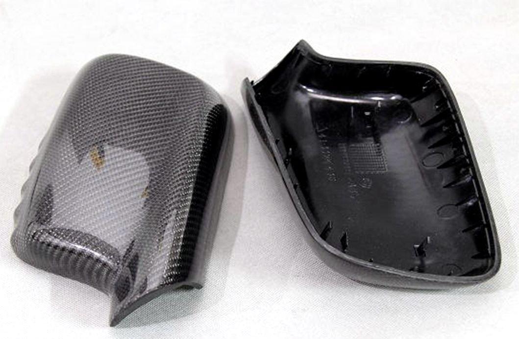 Carbon Fiber Mirror Covers Replacement For BMW 3 Series Cabriolet E46 2000-2007 318ci 320ci 323ci 32