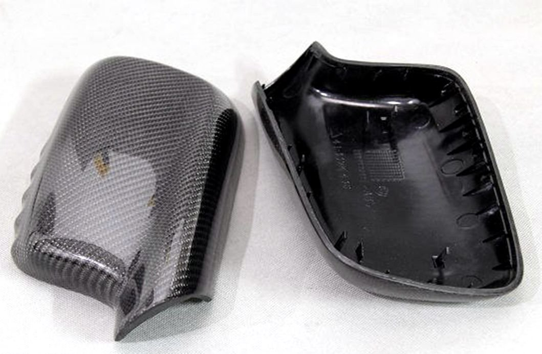 Carbon Fiber Mirror Covers Replacement For BMW 3 Series Coupe E46 1999-2006 318ci 320ci 323ci 325ci