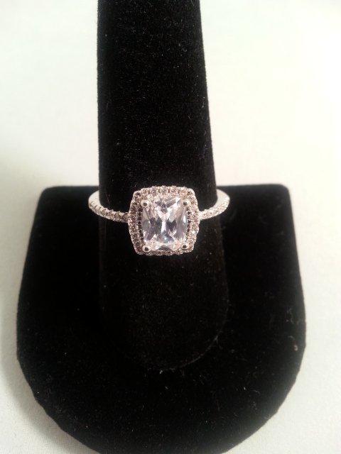 Princess Cut CZ Engagement Ring