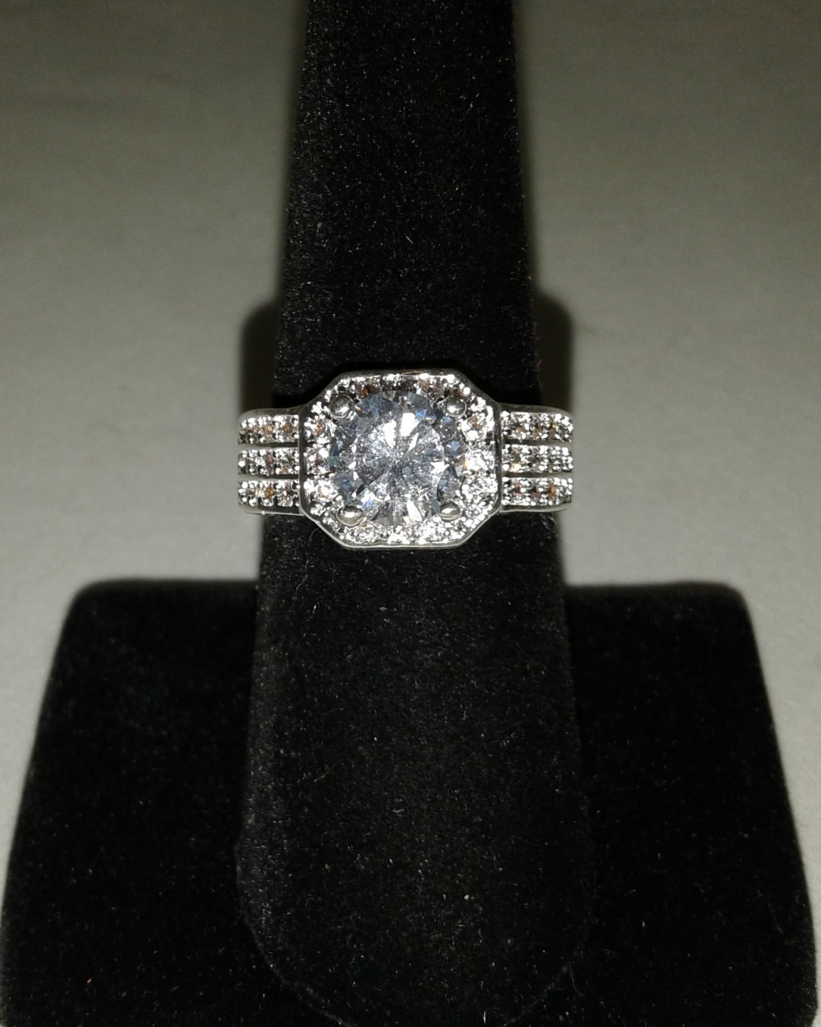 Noble Princess Cut CZ Ring - Sterling Silver