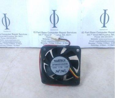 Martech DF0602012XZHN 12VDC-0.12A-.44W 60x60x15mm 3-Pin Ball Bearing Fan