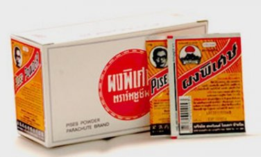1 Box (36Pcsx3g) Thai Herb Pises Powder Acne Treatment Anti Bacterial And Pimpl