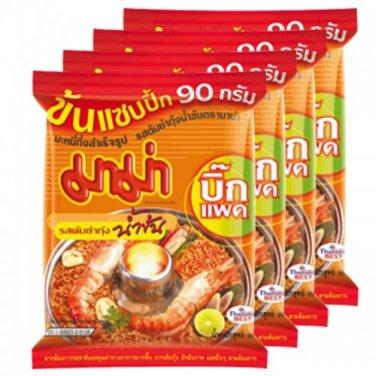 Thai Noodles MAMA Tom Yum Goong (Creamy) 4pcsX90g Big Pack.Thai food