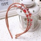 Beautiful Stylish Multicolor Fashion Retro Red Crystal Rhinestone Hair Band Headband