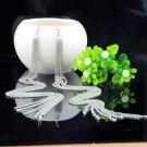 Glamorous Celebrity Long Silver Plated Tassel Chain Dangle Drop Earrings