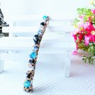 Beautiful Stylish Blue Fashion Retro Crystal Rhinestone Barrette Hairpin Hair Clip