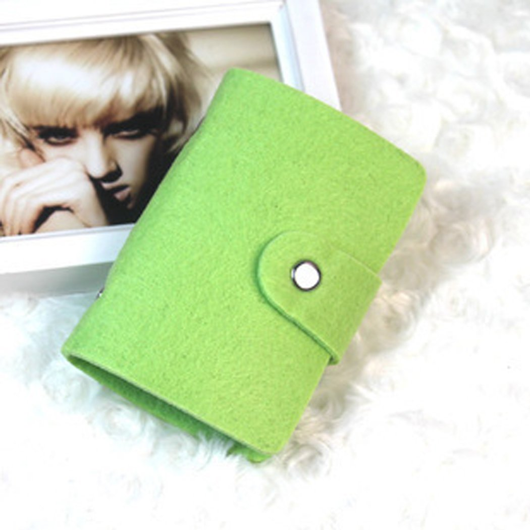Fashion Retro Green Women Pouch ID Credit Card Wallet Cash Holder Organizer Case Box Pocket