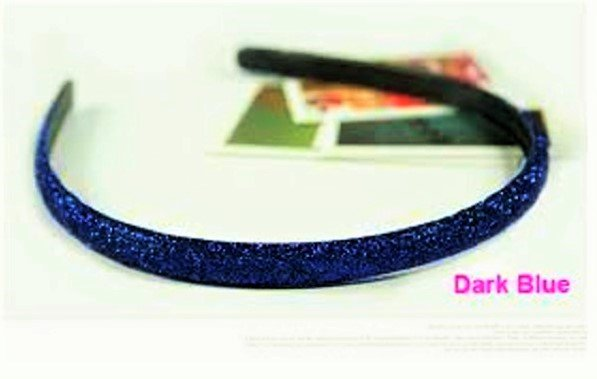 Hot fashion Retro Dark Blue Shimmering Shining Glitter Flashy Hair Headband