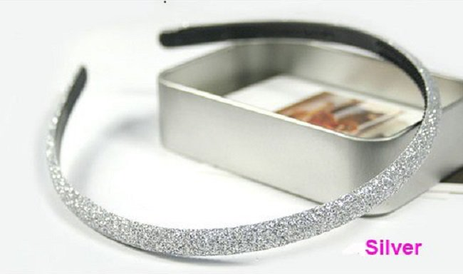 Hot fashion Retro Silver Shimmering Shining Glitter Flashy Hair Headband