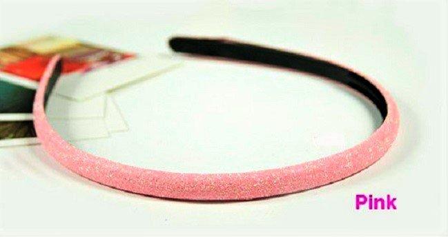 Hot fashion Retro Pink Shimmering Shining Glitter Flashy Hair Headband