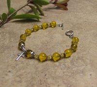 Prayer Bracelet Standard Sterling Silver (Yellow)