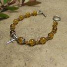 Prayer Bracelet Standard Sterling Silver (Amber)