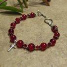 Prayer Bracelet Standard Sterling Silver (Red)