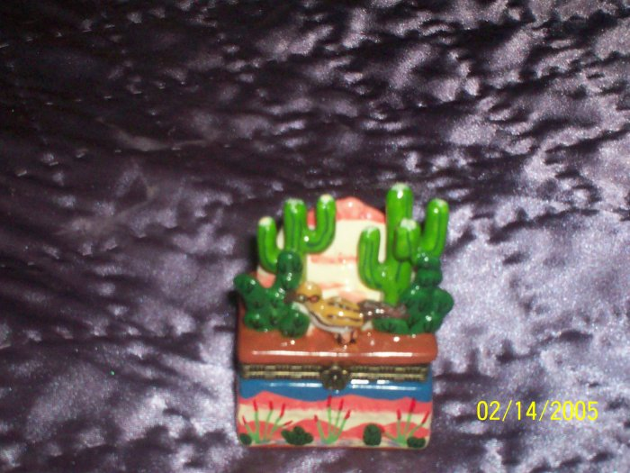 Cactus trinket box